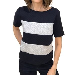 JCPenney New Quilted Popcorn Sweatshirt Top Shirt